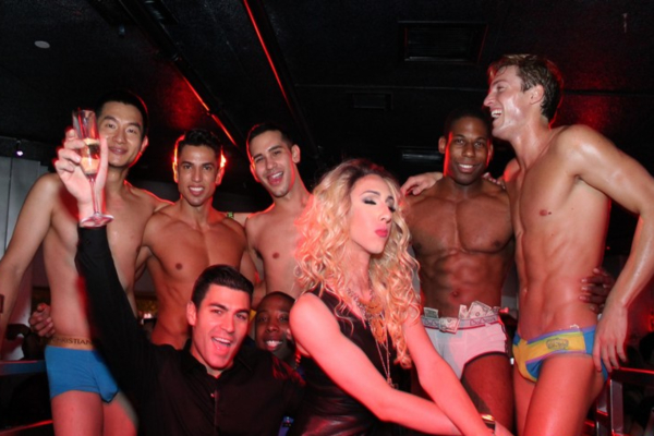 Many male strippers partying with customers in Ireland